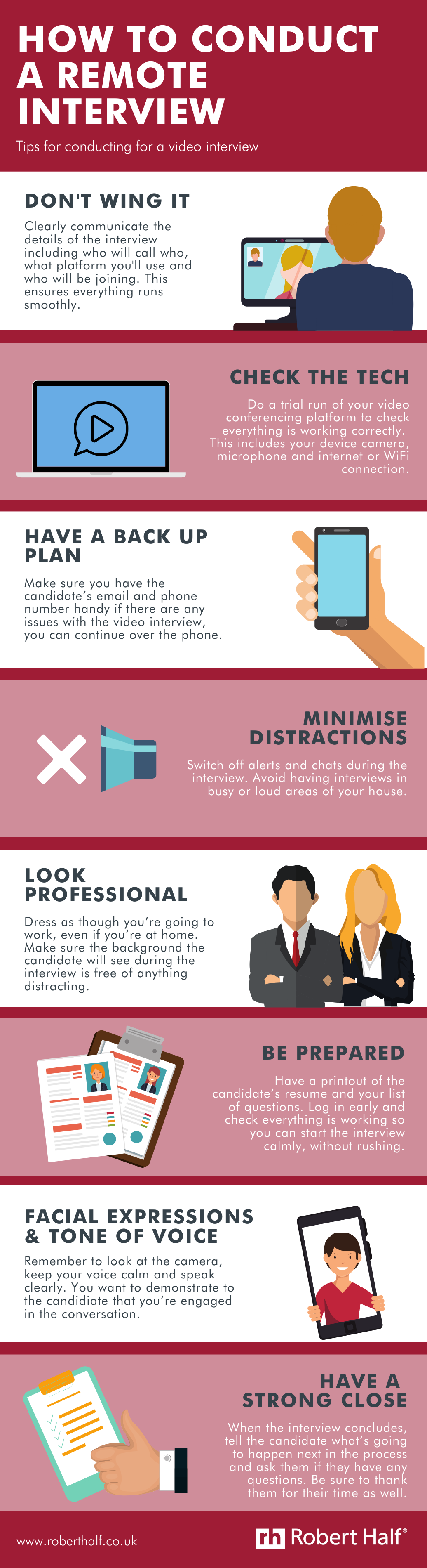Remote interview infographic