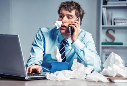 Employee suffering from presenteeism: working while ill