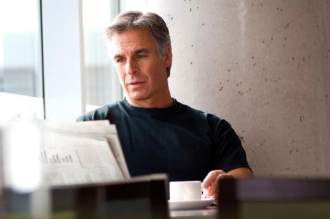 Man feeling gloomy about having to head to work on the Monday